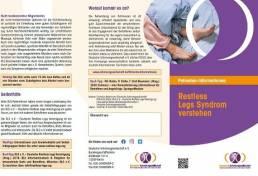Flyer RLS verstehen von der Deutschen Schmerzgesellschaft