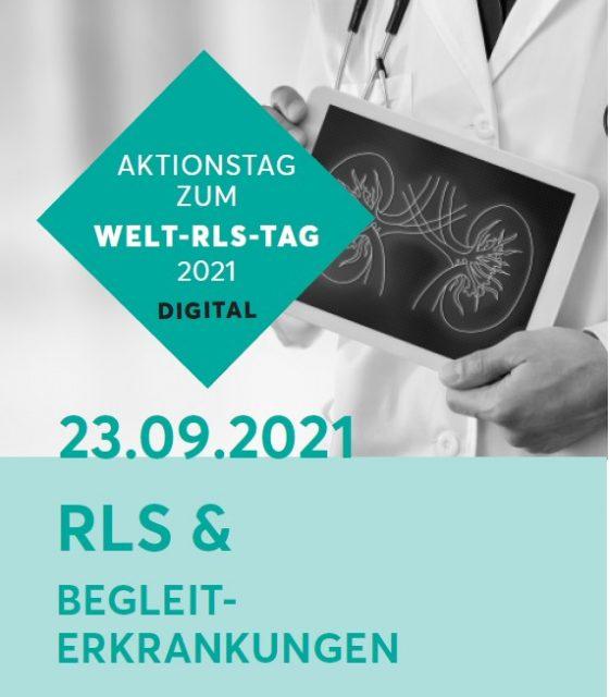 Plakat zum Aktionstag zum Welt-RLS-Tag mit dem Thema RLS und Begleiterkrankungen
